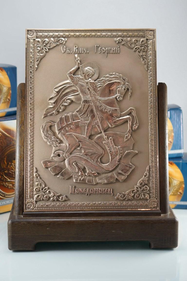 """Икона """"Святой великомученик Георгий Победоносец"""" Икона, Колокол, Сувенир, Подарок верующему, Подарок православному"""