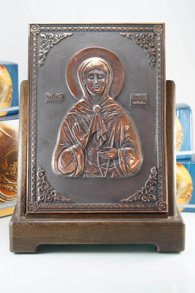"""Икона """"Святая блж. Матрона Московская"""", Колокол, Сувенир, Подарок верующему, Подарок православному"""