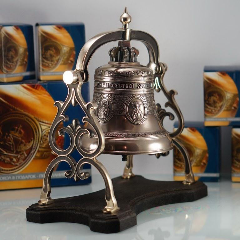 Колокол сувенирный на бронзовой качалке
