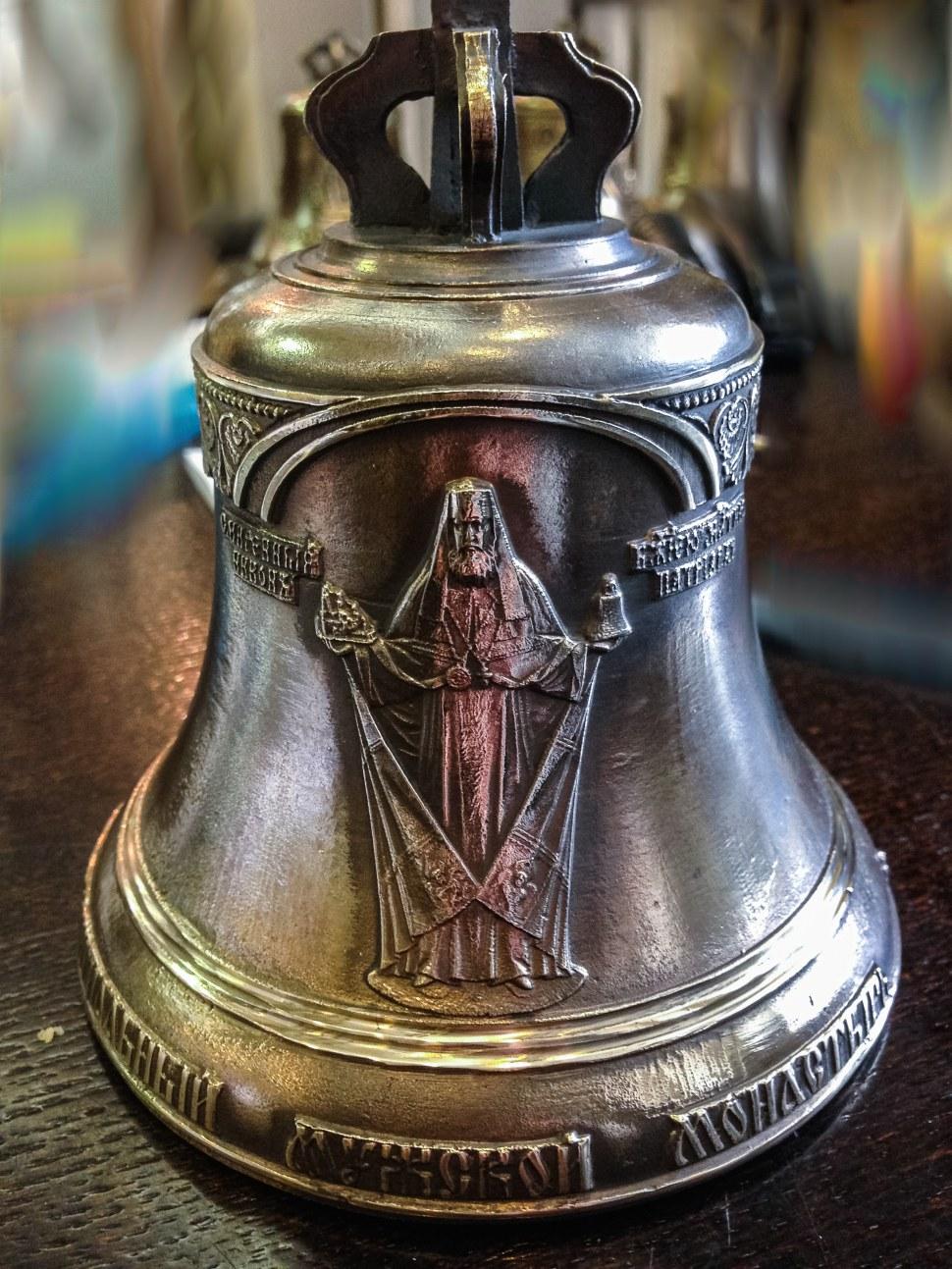 Колокольчики 1 кг и 0,3 кг копия колокола 8500 кг отлитого для Воскресенского Ново-Иерусалимского мужского монастыря, г.Истра